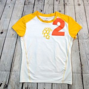 Nike Dri Fit Orange Yellow Short Sleeve Tee